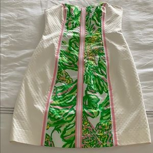White strapless Lilly Pulitzer dress